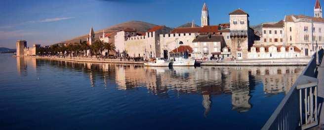 Trogirska riva   Panorama of Trogir