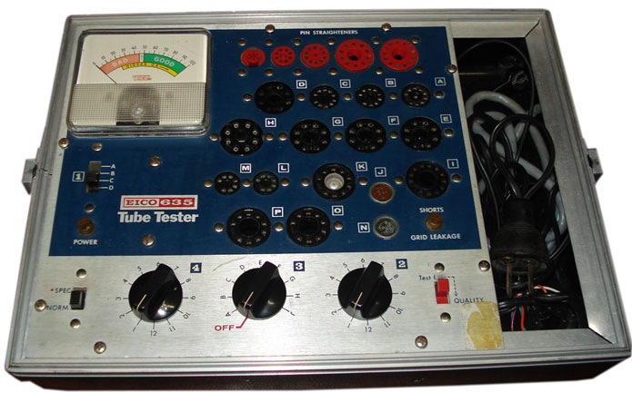 eico635 tube testers guide tone lizard Eico Tube Tester 140 at crackthecode.co