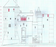 Castell Coch east elevation plan