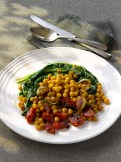 Roasted Chick Peas and Swiss Chard