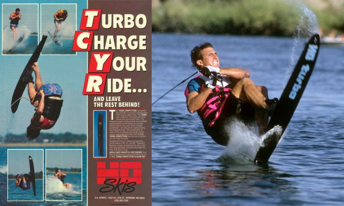 tony klarich front flip on slalom water ski HO sports