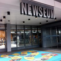 Photos of iconic artifacts at the Newseum in Washington D.C.