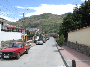 Photo of a typical street in Paute, Ecuador