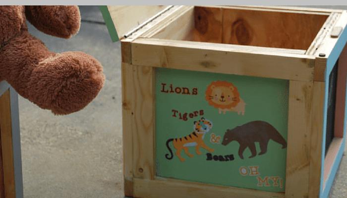 Alphabet Blocks Inspired Kids Storage Seating