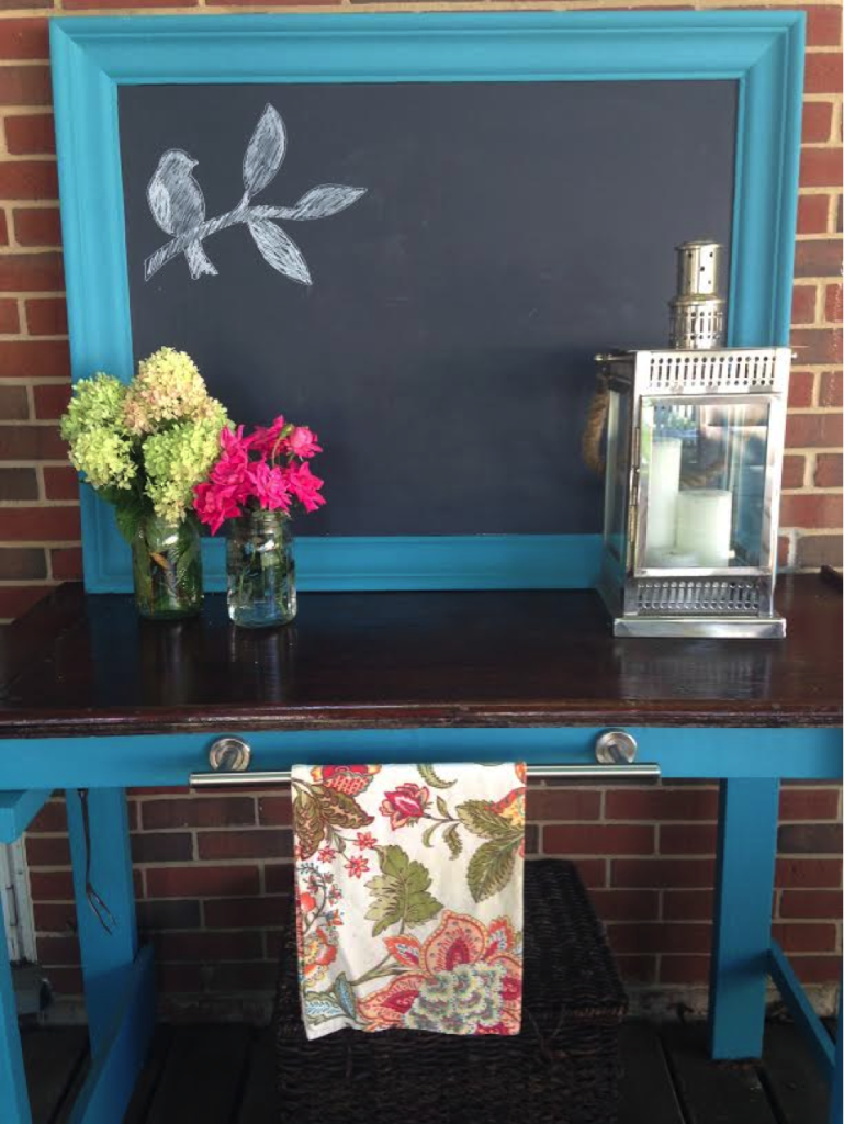 Beautiful Outdoor Buffet Repurposed by Karla @ SmallTownRambler.com
