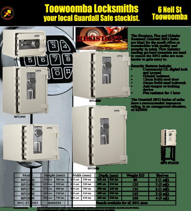 Toowoomba Locksmiths Guardall Safes