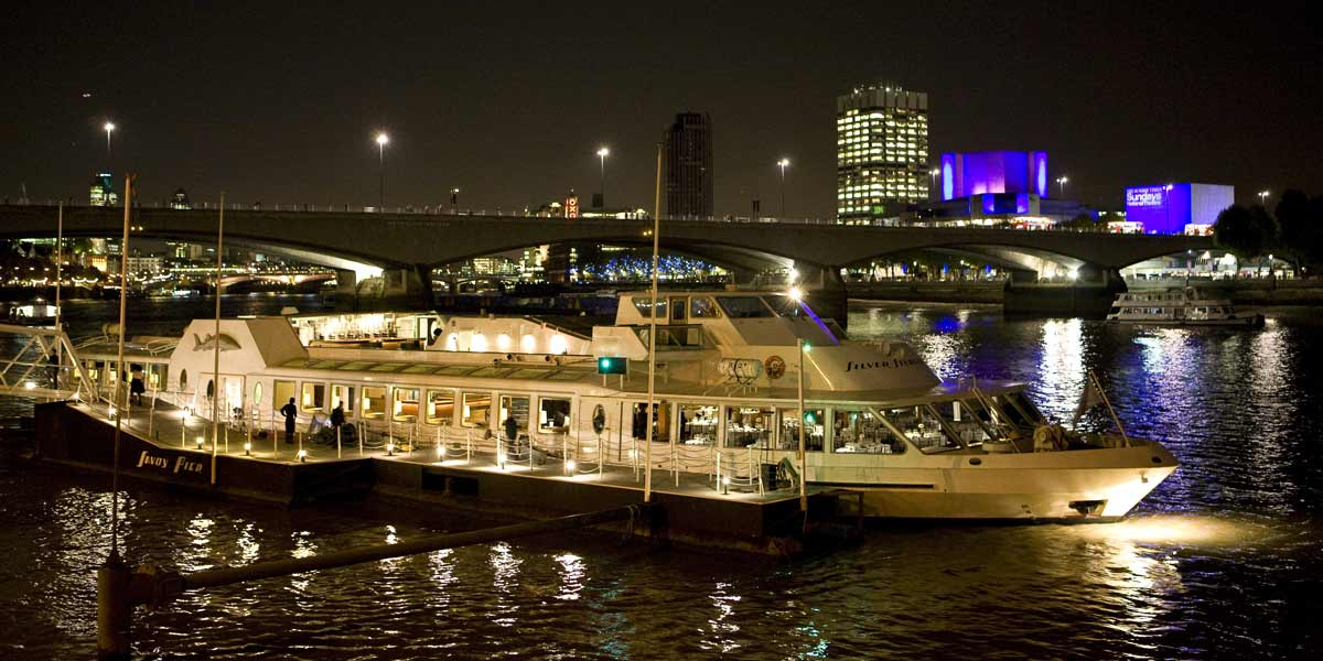 Boat On The Thames For Events, Silver Sturgeon, Prestigious Venues