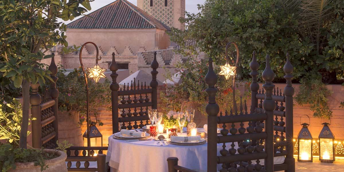 Outdoor Terrace Dining, La Sultana Marrakech, Prestigious Venues