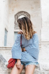 stripes off shoulder