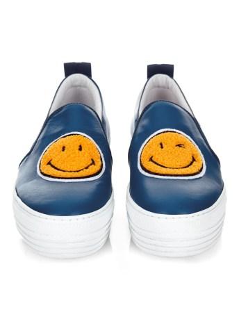 joshua sanders smiley face leather platforms