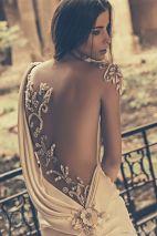 julia kontogruni bridal 2015 wedding one shoulder sheer emboidered beaded back fit
