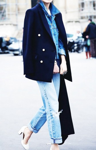 layer your clothes and cuff your jeans