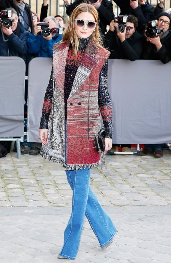 Olivia Palermo in flare jeans