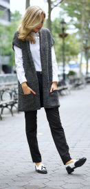 loafers black and white