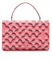 prada molevule print saffiano top handle bag