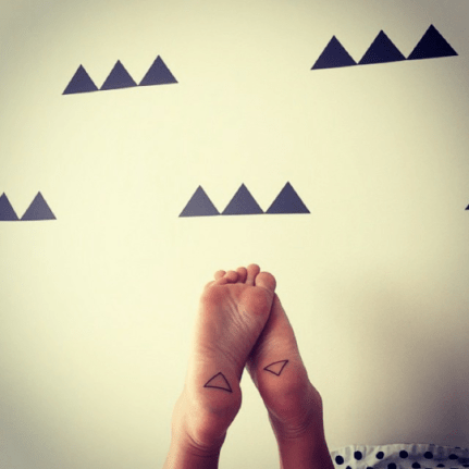 triangles on the sole