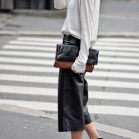 Leather culotte trend