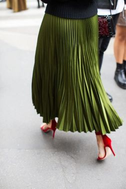 classy pleated