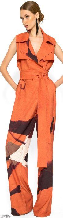 lenny niemeyer fall 2016 orange jumpsuit
