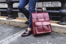 dr martens large leather backpack