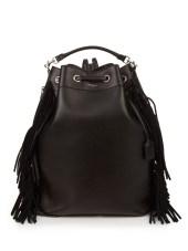 saint laurent fringed leather backpack