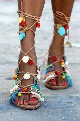 gladiator sandals mint mojitos handmade elina linardaki