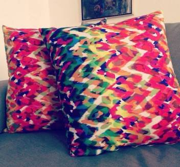 pillows with textiles