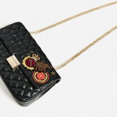 quilted patches crossbody bag