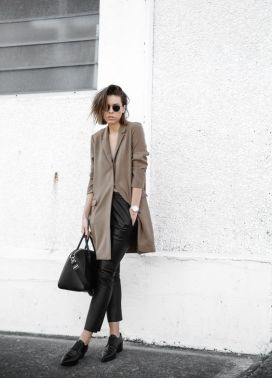 boyfriend-blazer-leather-pants-and-loafers