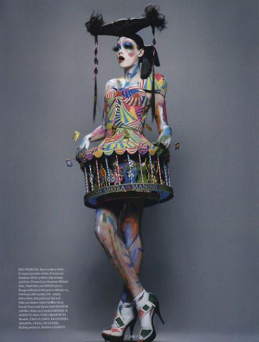 body paint carousel
