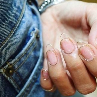 future-esque nails wire nail art