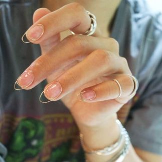 korean trend nail art wire