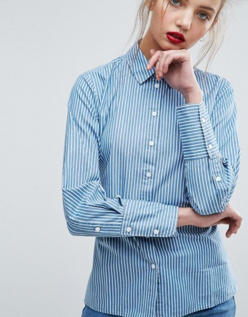 asos denim stripe shirt2