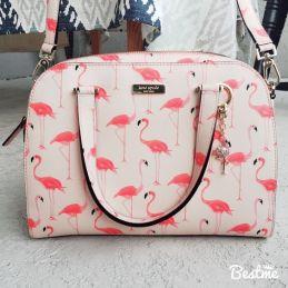 kate spade flamingo printed bag
