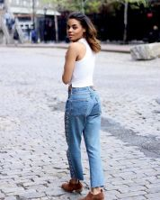denim with top