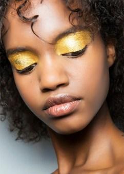 metallic gold eyeshadows