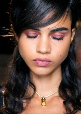 pink smokey eyes and lips