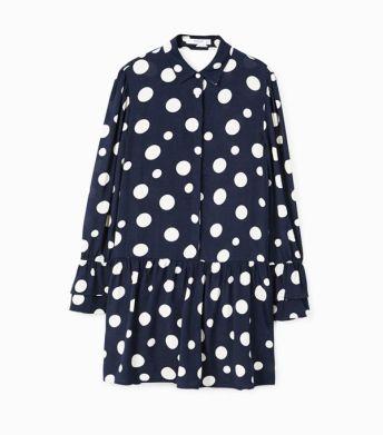 mango polka dot ruffle dress