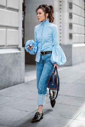 statement sleeves with denim