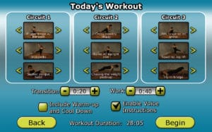 Remix Workouts_Todays Workout screen