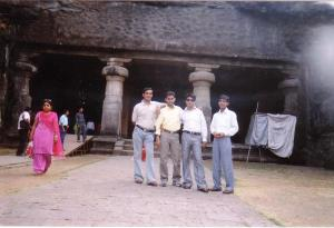 Er. Harvilas Meena with Friends at Elephanta Caves-2 in Mumbai