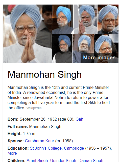 Manmohan Singh-Prime Minister of India