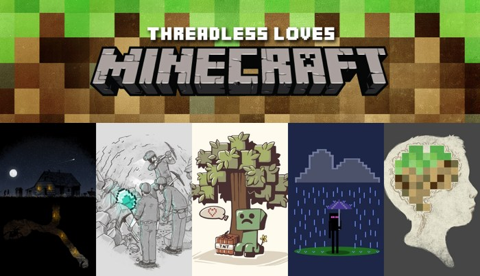 Threadless Minecraft Collection