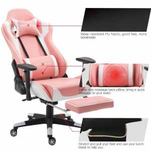 Top 5 best light & hot pink gaming chair in 2019 review