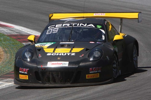 Klaus Bachler/Alex MacDowall fuhren im Porsche 911 GT3 R auf Rang 9 © Rudolf Beranek