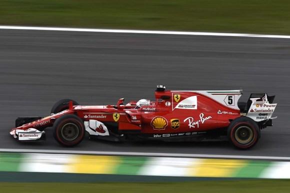 Sebastian Vettel siegt in Brasilien © FERRARI MEDIA