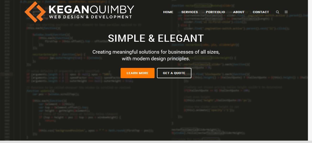 Kegan Quimby Web Design & Development Reviews