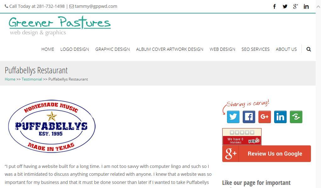 Greener Pastures Web Design & Graphics Reviews