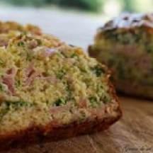Cake aux fines herbes et au jambon de Martine