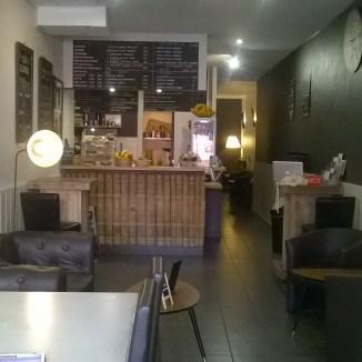 l'avant du coffee shop